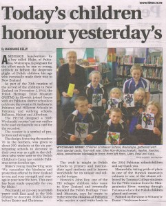 H&P Times Thur 27th Nov 2014 page 34 'Today's children honour yesterday's'