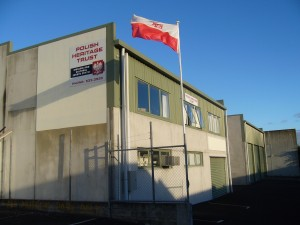 PHTM building and flag