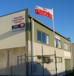 PHTM building and flag image